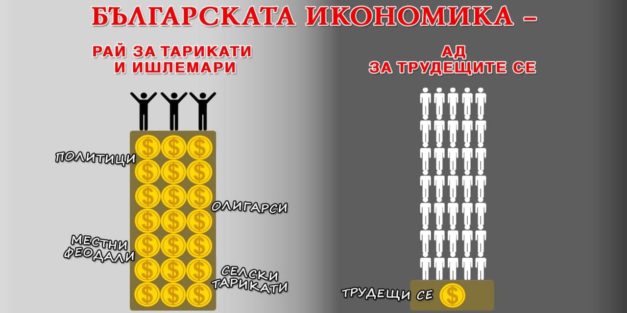 Българската икономика днес расте, но е конюнктурна, ишлемарска и 50 % сива
