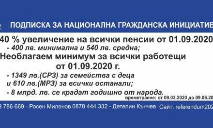 """""""""""КРАЙ"""" на мизерните пенсии и работещите бедни в България"""""""